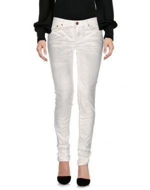 Повседневные брюки REIGN. Цвет: белый