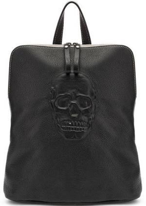 Кожаная сумка-рюкзак с одним отделом Io Pelle. Цвет: черный