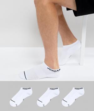 Jordan Набор из 3 пар белых спортивных носков Nike SX5546-100. Цвет: белый
