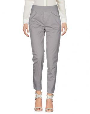 Повседневные брюки EUROPEAN CULTURE. Цвет: голубиный серый