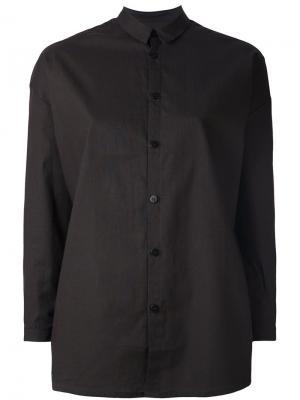 Рубашка с узором на рукавах Toogood. Цвет: коричневый