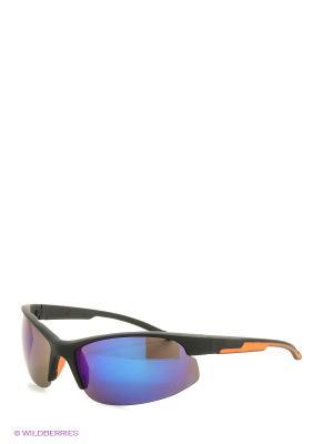 Солнцезащитные очки Vita pelle. Цвет: черный, синий, оранжевый
