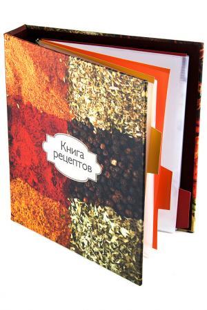 Книга для записи 18х23х4см Русские подарки. Цвет: красный, оранжевый, коричневый