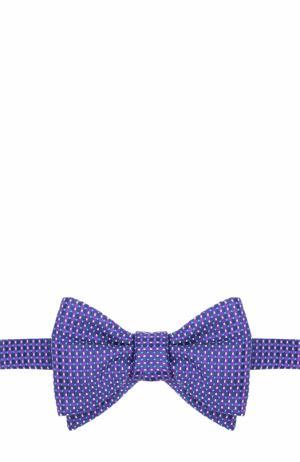 Шелковый галстук-бабочка с узором Eton. Цвет: фиолетовый