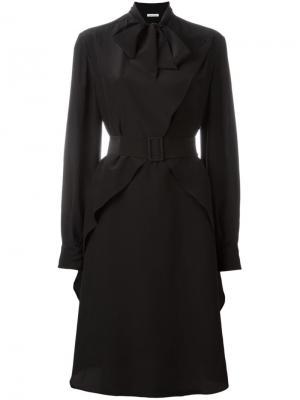 Платье с бантом Tomas Maier. Цвет: чёрный