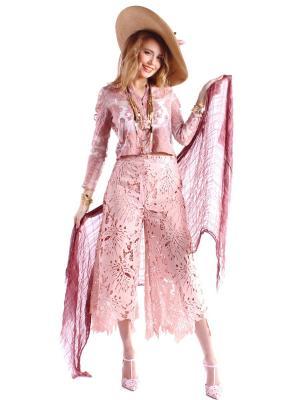 Брюки FORZA VIVA. Цвет: розовый