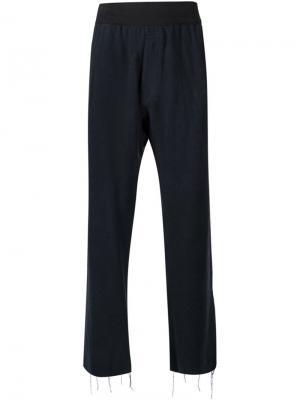 Укороченные брюки Longjourney. Цвет: чёрный