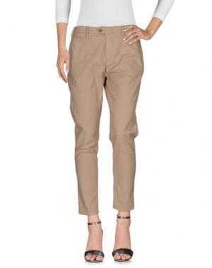 Джинсовые брюки OAKS. Цвет: песочный