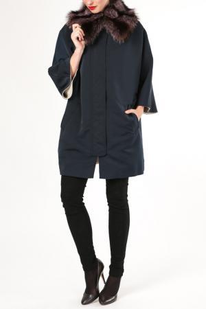 Пальто M. Collection. Цвет: синий