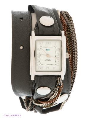 Часы La Mer Collections. Цвет: темно-серый, серебристый