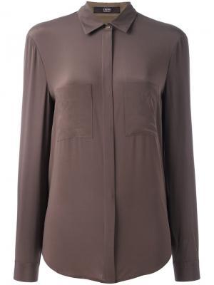 Рубашка с накладными карманами Steffen Schraut. Цвет: коричневый