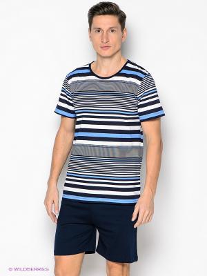 Комплект Vienetta Secret. Цвет: темно-синий, голубой, белый