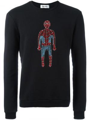 Толстовка с вышивкой супермена Jimi Roos. Цвет: чёрный