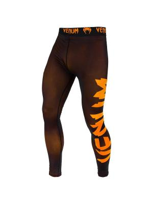 Тайтсы Venum Giant Black/Orange. Цвет: черный, светло-оранжевый