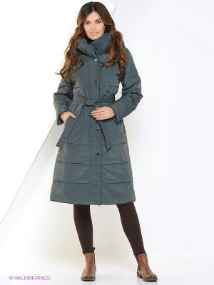 Куртка женская DIXI CoAT. Цвет: серо-зеленый