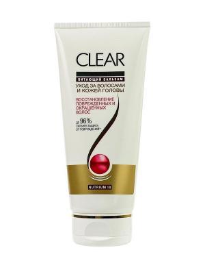 Бальзам-ополаскиватель для женщин Восстановление поврежденных и окрашенных волос  180мл CLEAR. Цвет: белый