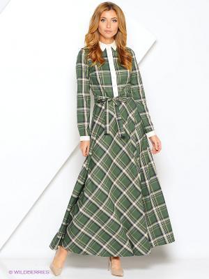 Платье Xarizmas. Цвет: зеленый, белый, черный