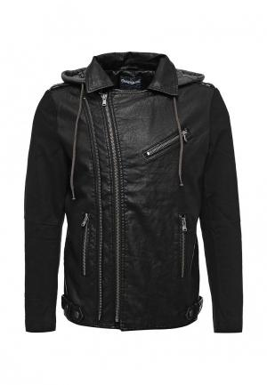 Куртка кожаная Desigual. Цвет: черный