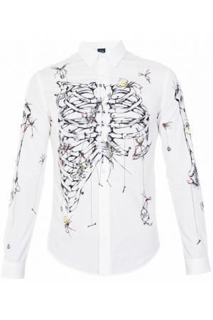 Рубашка McQ Alexander McQueen. Цвет: белый