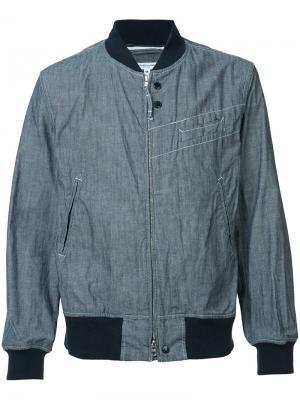 Куртка-бомбер на молнии Engineered Garments. Цвет: синий