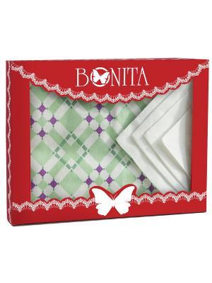 Скатерть BONITA. Цвет: светло-зеленый, темно-фиолетовый, белый