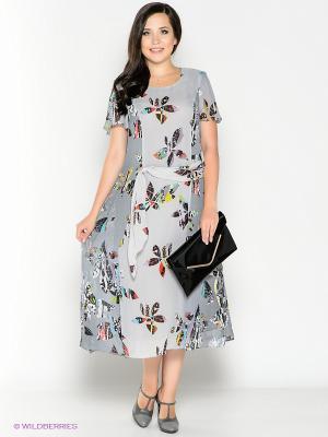 Платье Amelia Lux. Цвет: серый, черный