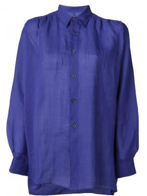 Классическая рубашка Junya Watanabe Comme Des Garçons. Цвет: синий