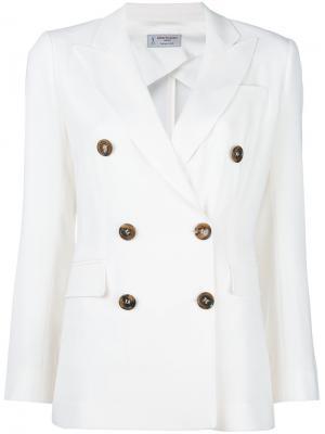 Двубортный пиджак Alberto Biani. Цвет: белый