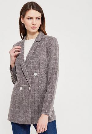 Пиджак Miss Selfridge. Цвет: серый