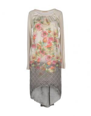 Короткое платье BLEIFREI. Цвет: слоновая кость
