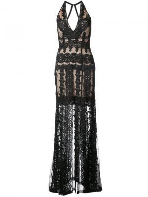 V-neck dress Nicole Miller. Цвет: чёрный