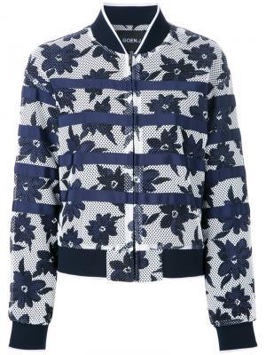 Куртка-бомбер с цветочным принтом Goen.J. Цвет: синий