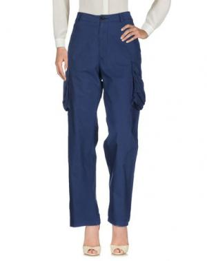 Повседневные брюки LEVIATHAN. Цвет: темно-синий