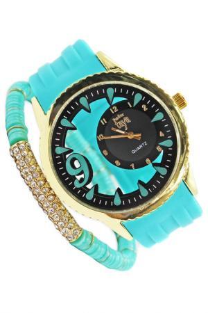Часы наручные Taya. Цвет: золотистый, зеленый