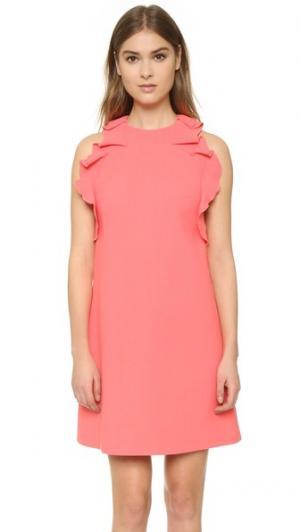 Платье без рукавов Giambattista Valli. Цвет: оранжевый