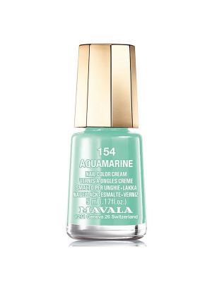 Лак для ногтей тон 154 Aquamarine Mavala. Цвет: светло-зеленый