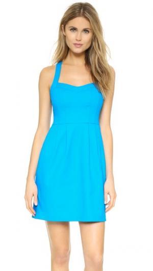 Свободное платье Sultry Nanette Lepore. Цвет: голубой