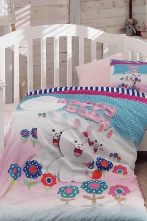 Baby Quilt Cover Set COLORS OF FASHION. Цвет: blue, fuchsia, white