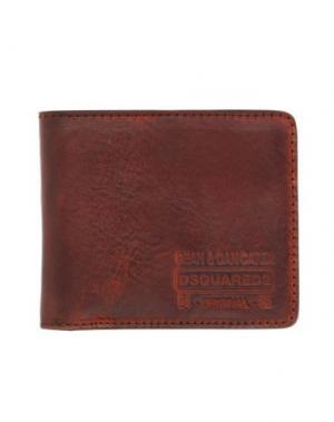 Бумажник DSQUARED2. Цвет: желто-коричневый