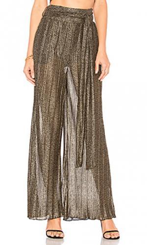 Широкие брюки drea House of Harlow 1960. Цвет: металлический золотой