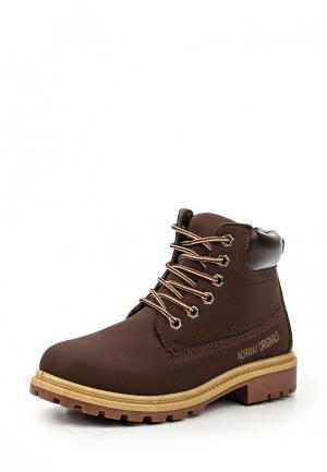 Ботинки Norway Originals. Цвет: коричневый