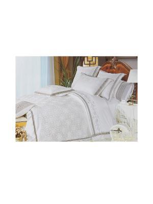 Комплект постельного белья 4 предмета HAMRAN. Цвет: бежевый, серый
