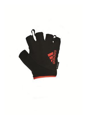 Перчатки для фитнеса Adidas красные, размер XL. Цвет: черный, красный