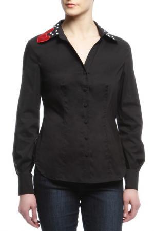 Блуза 22 MAGGIO. Цвет: черный, сердце