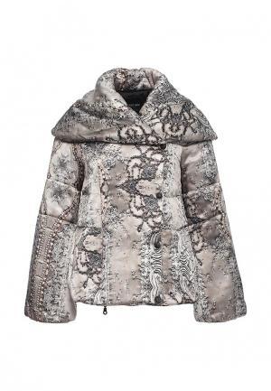Куртка утепленная Tricot Chic. Цвет: серый