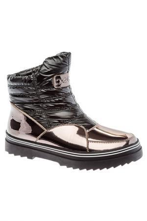 Ботинки Betsy. Цвет: черный, серебряный