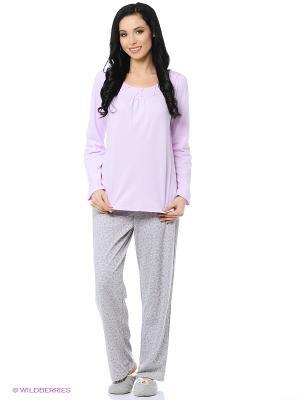 Пижама Aria. Цвет: серый, сиреневый