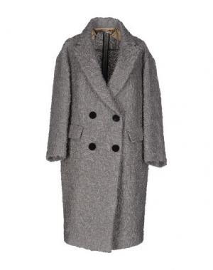 Пальто AQUILANO-RIMONDI. Цвет: серый