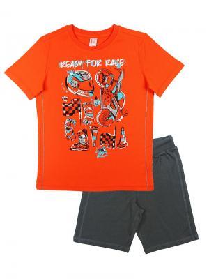 Комплект для мальчика (футболка, шорты) Cherubino. Цвет: оранжевый