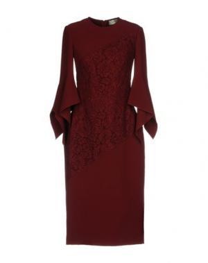 Платье до колена LOVER. Цвет: красно-коричневый